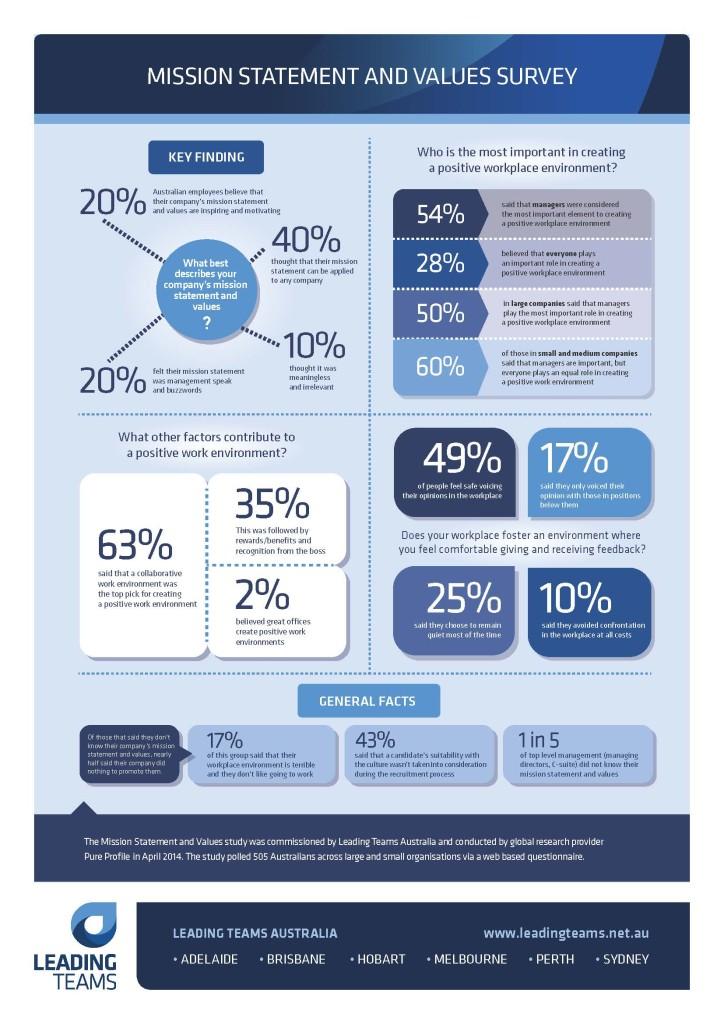 Mission Statement Values Survey Infographic