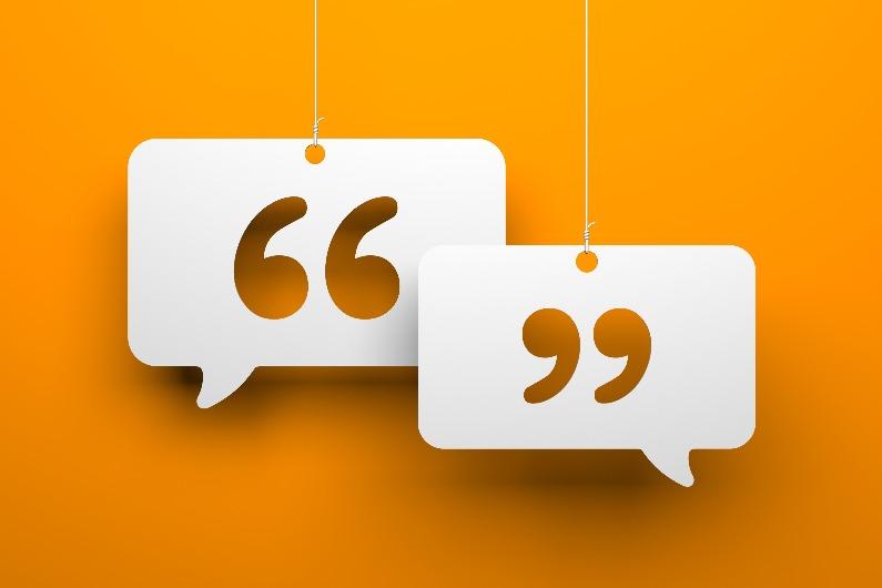 Genuine conversation speech bubbles